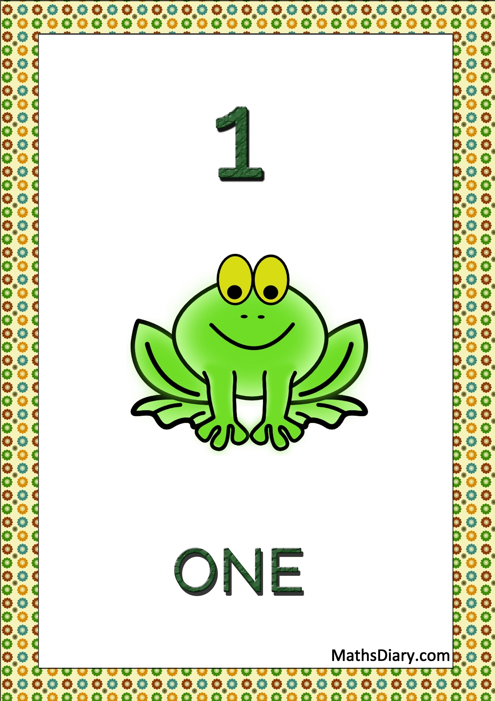Learning Counting And Recognition Of Number 1 Worksheets Level 1 Help Sheets Part 2
