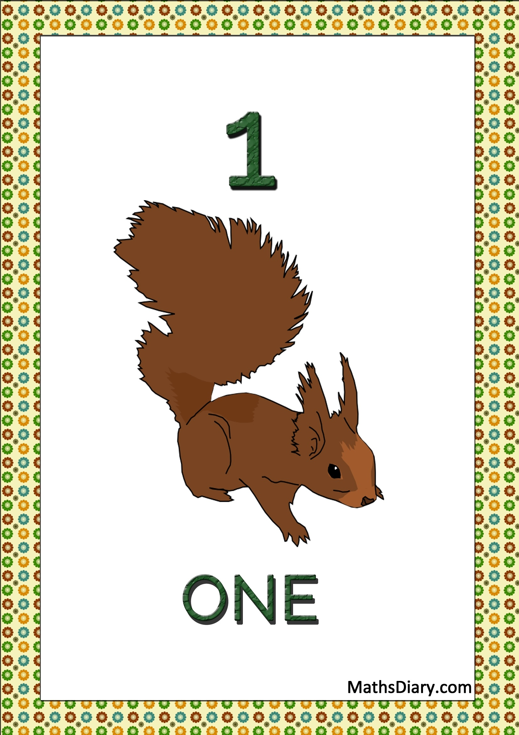 Squirrel Math Worksheets