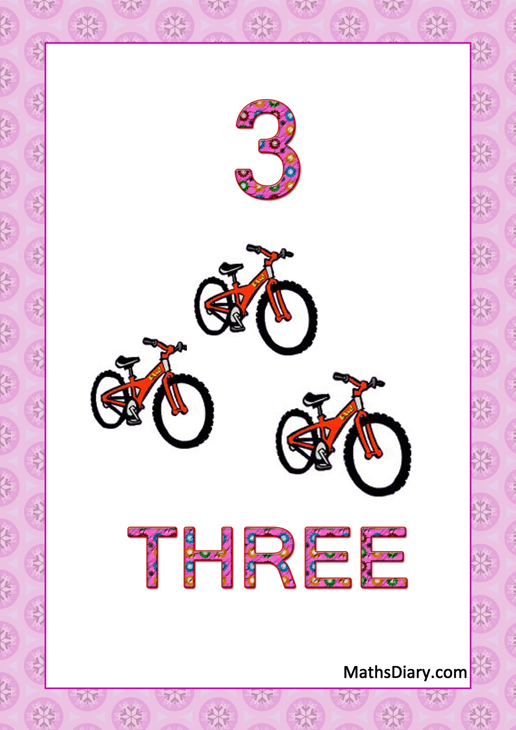 Learning Counting And Recognition Of Number 3 Worksheets Level 1 Help Sheets Part 1