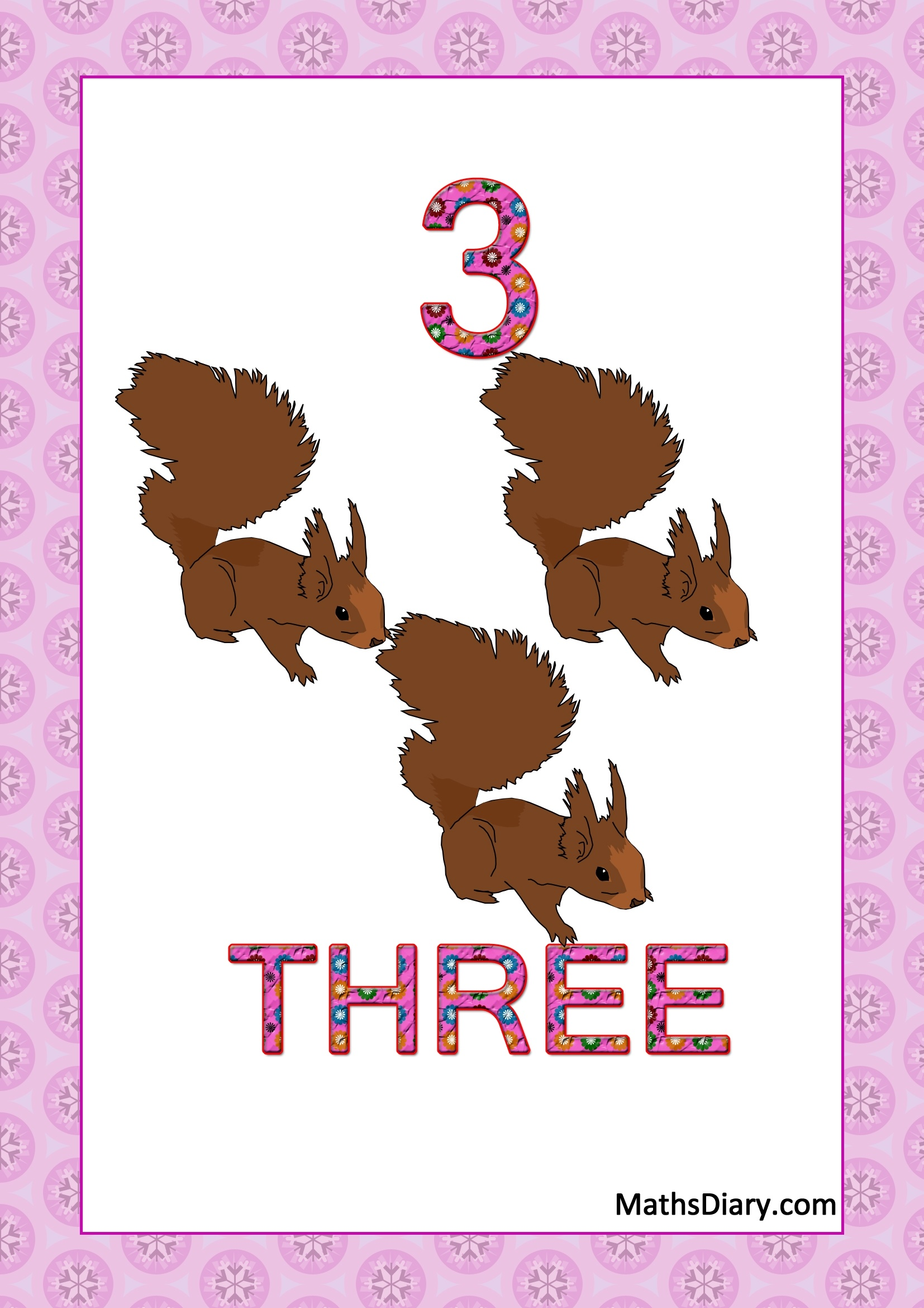 Learning Counting And Recognition Of Number 3 Worksheets