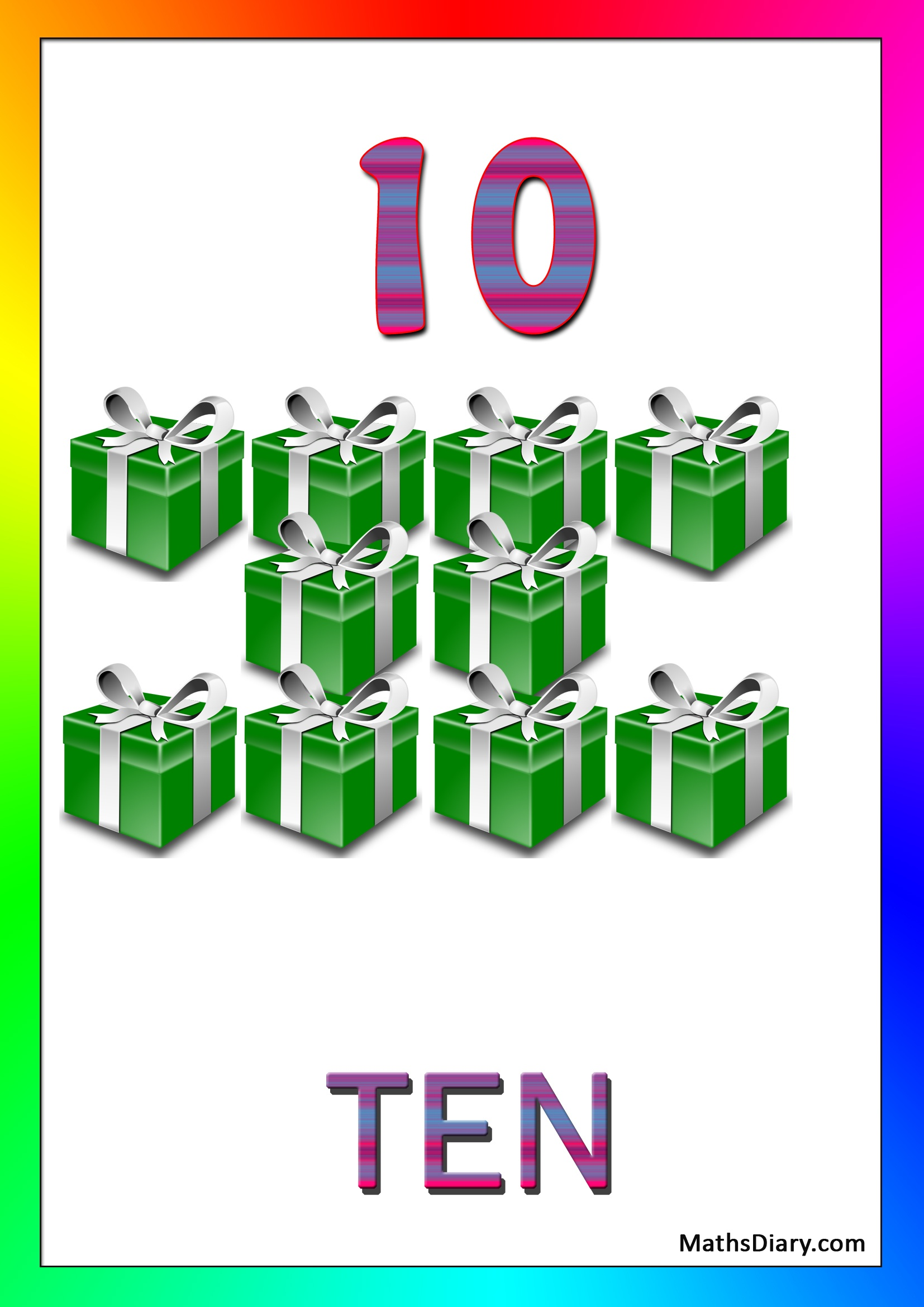 Learning Counting And Recognition Of Number 10