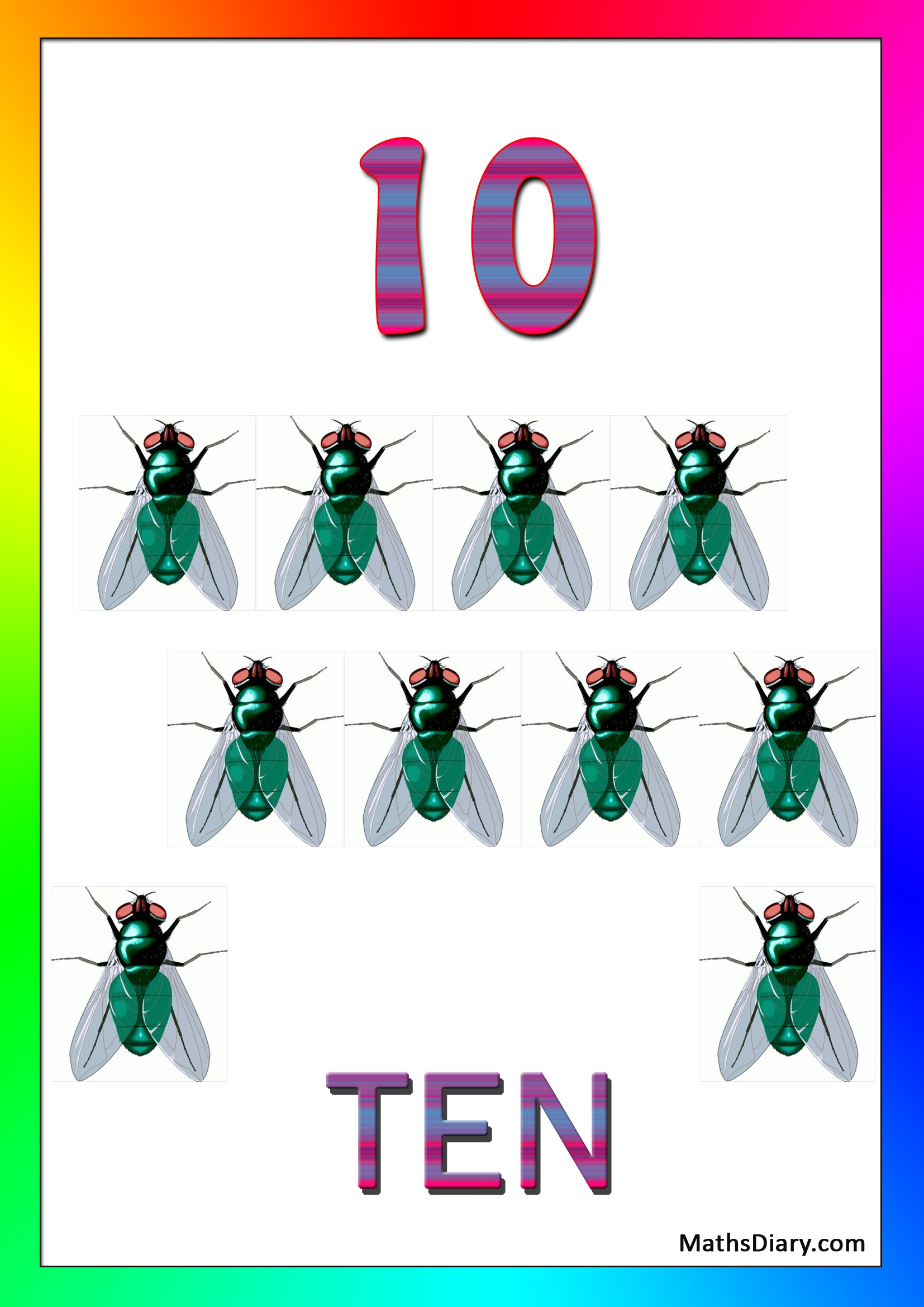 Learning Counting And Recognition Of Number 10 Worksheets Level 1 Help Sheets Part 2