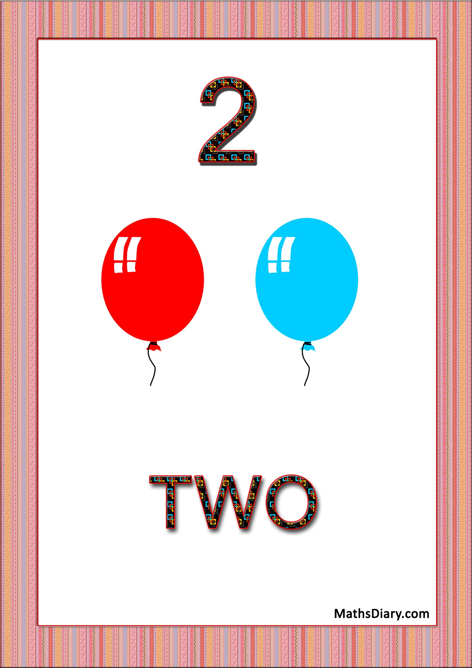 Learning Counting And Recognition Of Number 2 Level 2