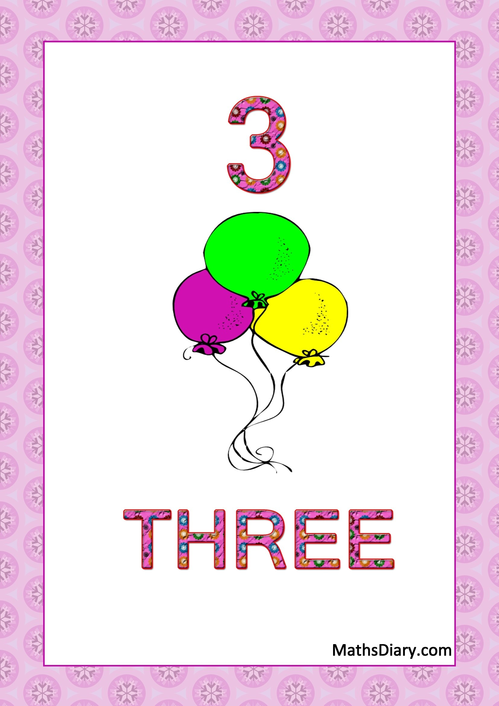 Learning Counting And Recognition Of Number 3 Level 2 Worksheets