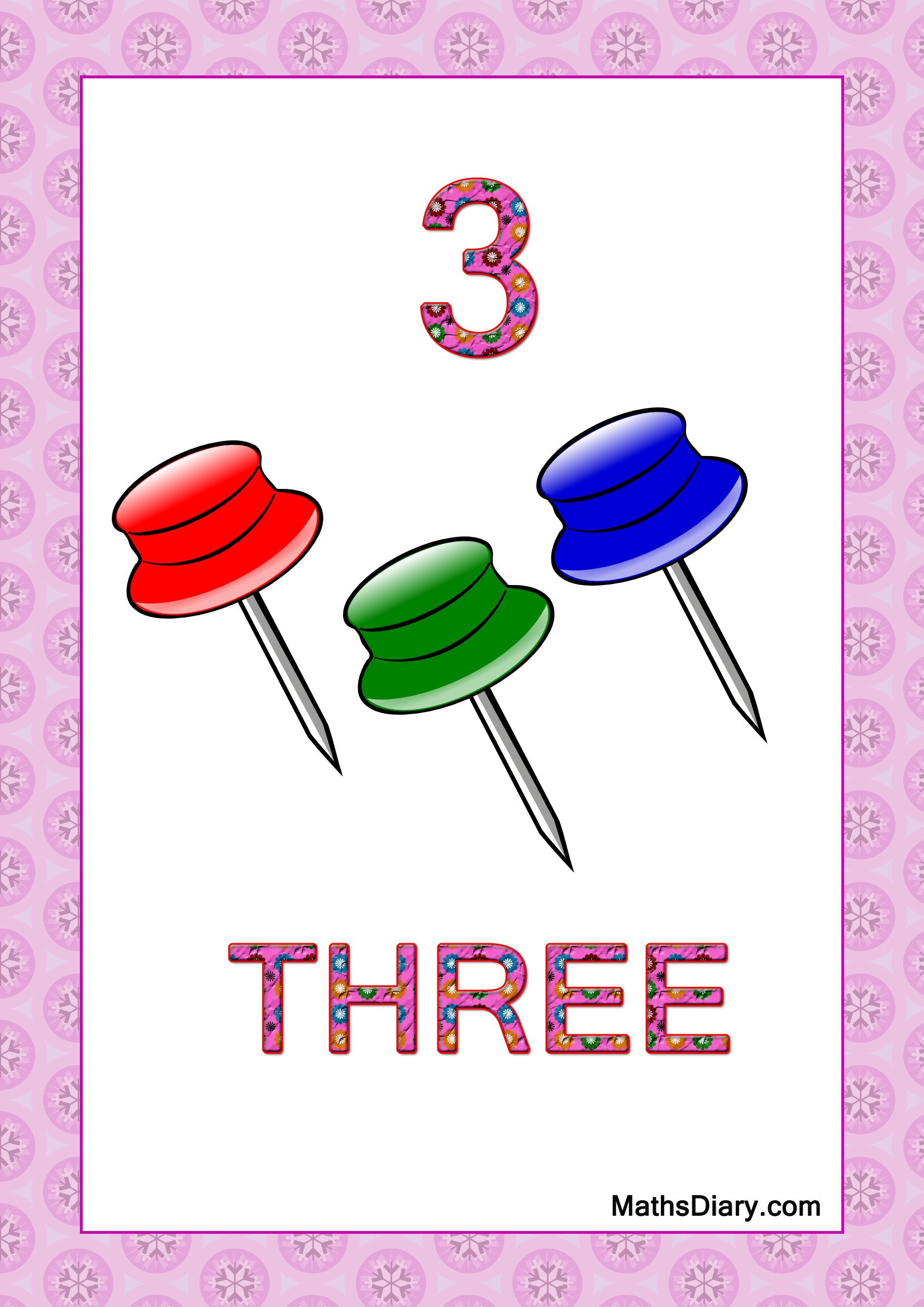 Learning Counting And Recognition Of Number 3 Level 2