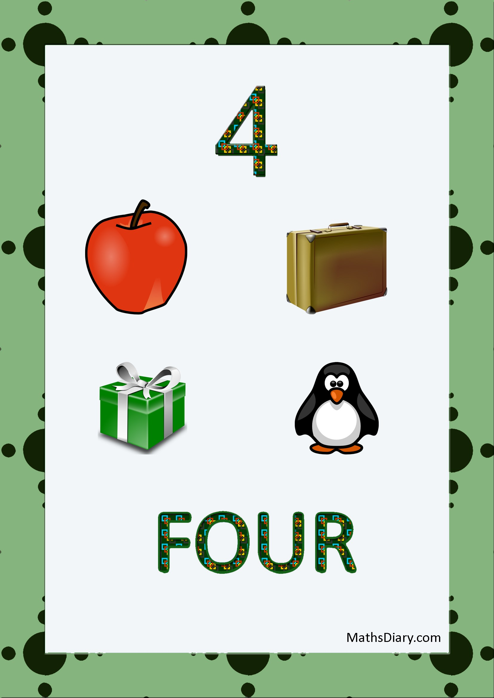 Learning Counting And Recognition Of Number 4 Level 3 Worksheets