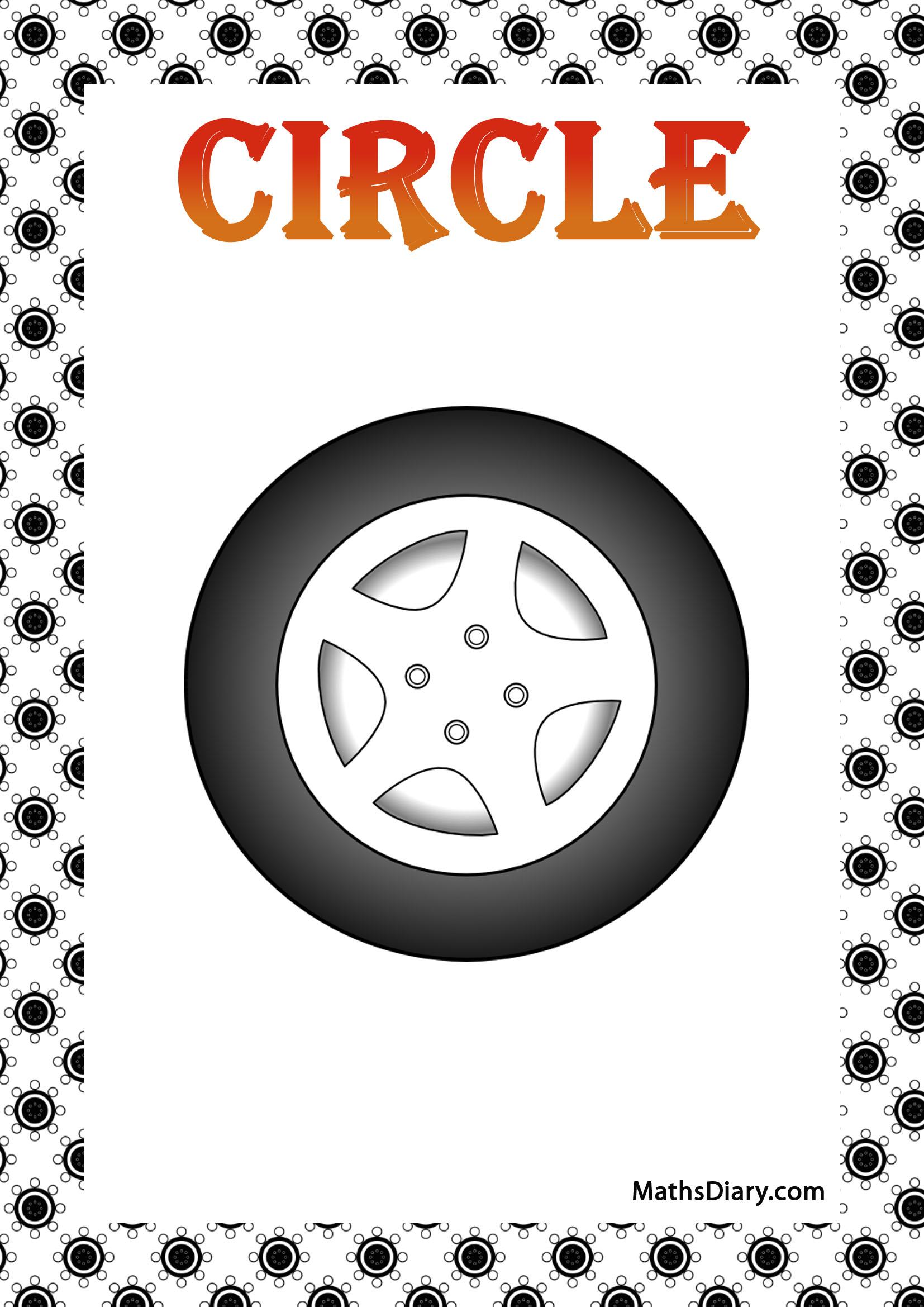 Identifying Circular Shapes Worksheet