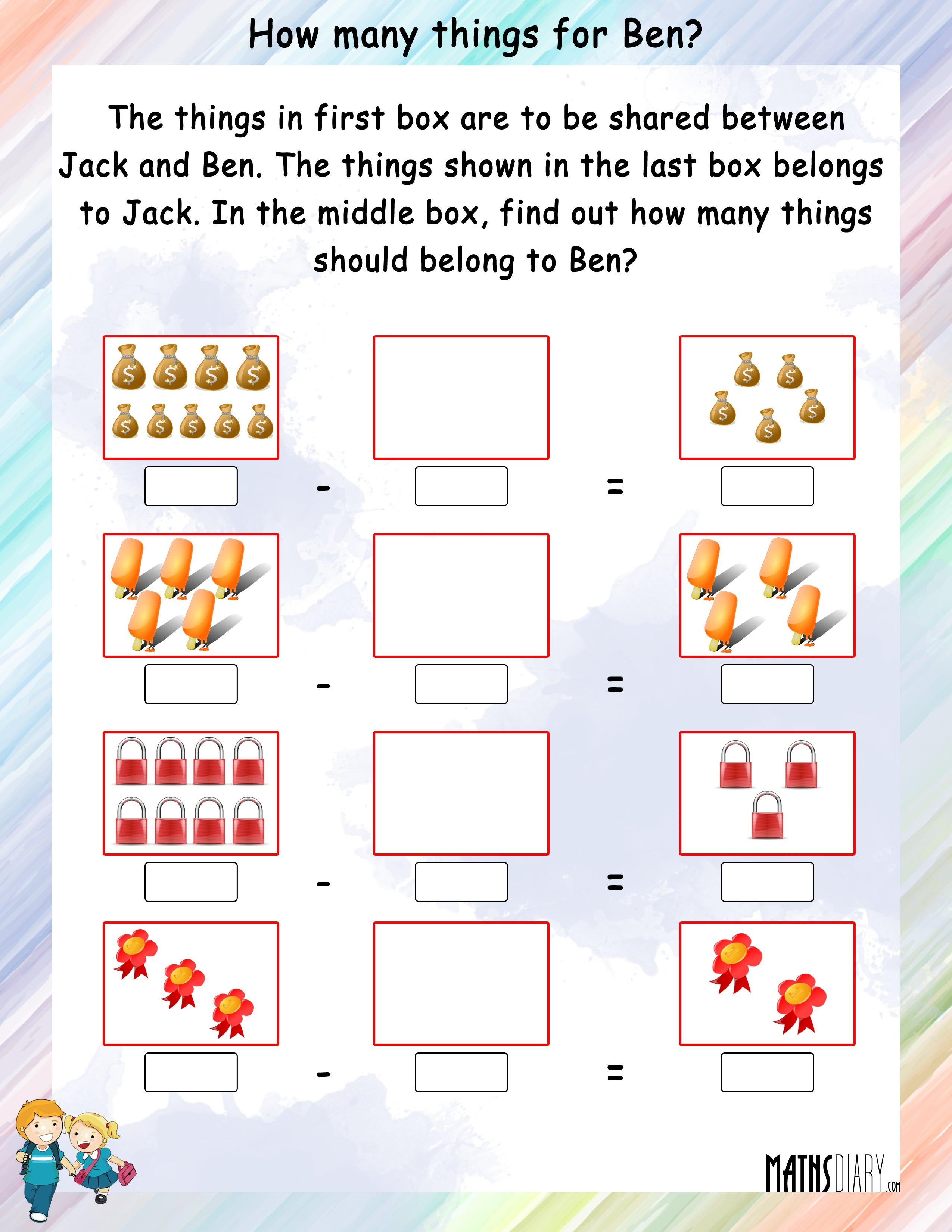 Mental Maths Grade 2 Math Worksheets