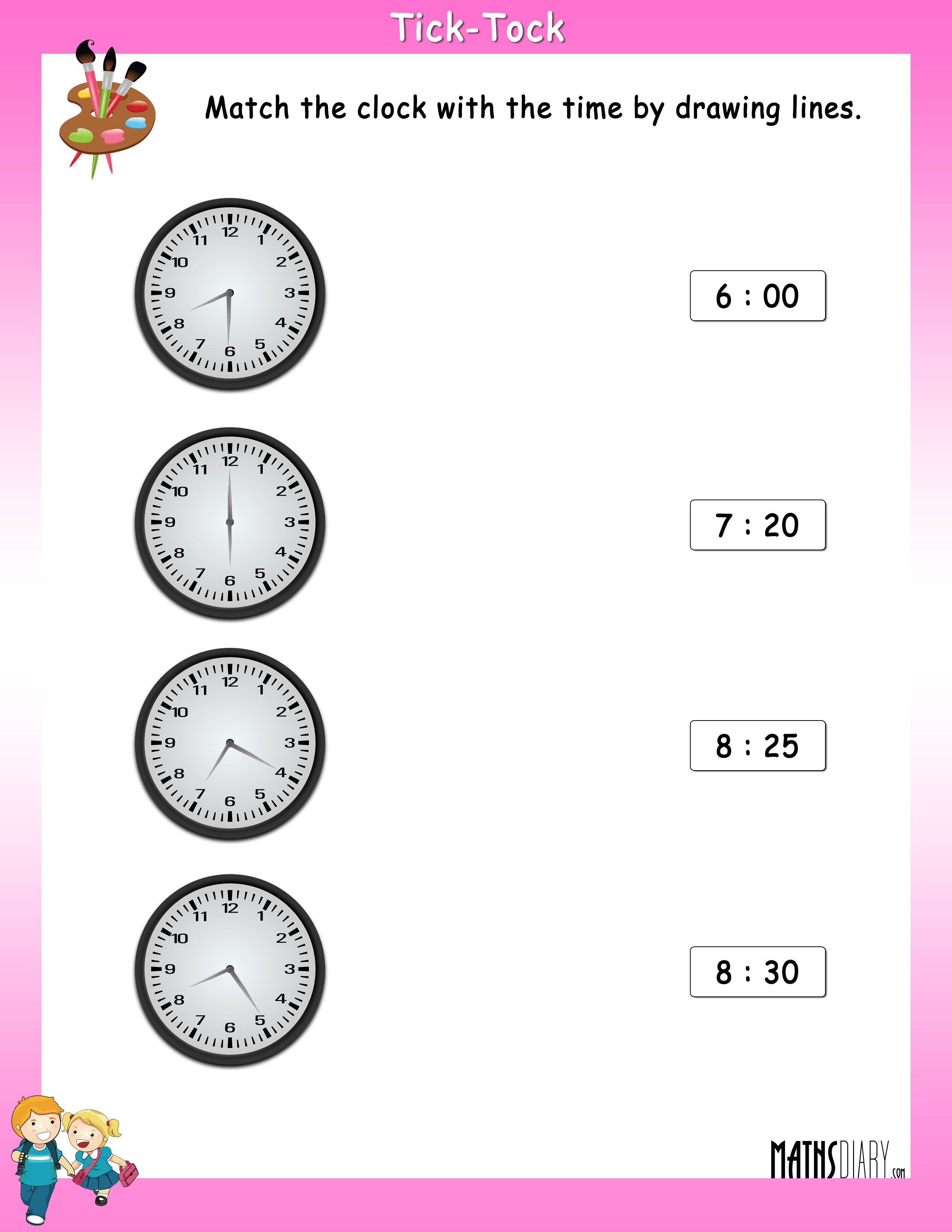 Match The Clock With The Time