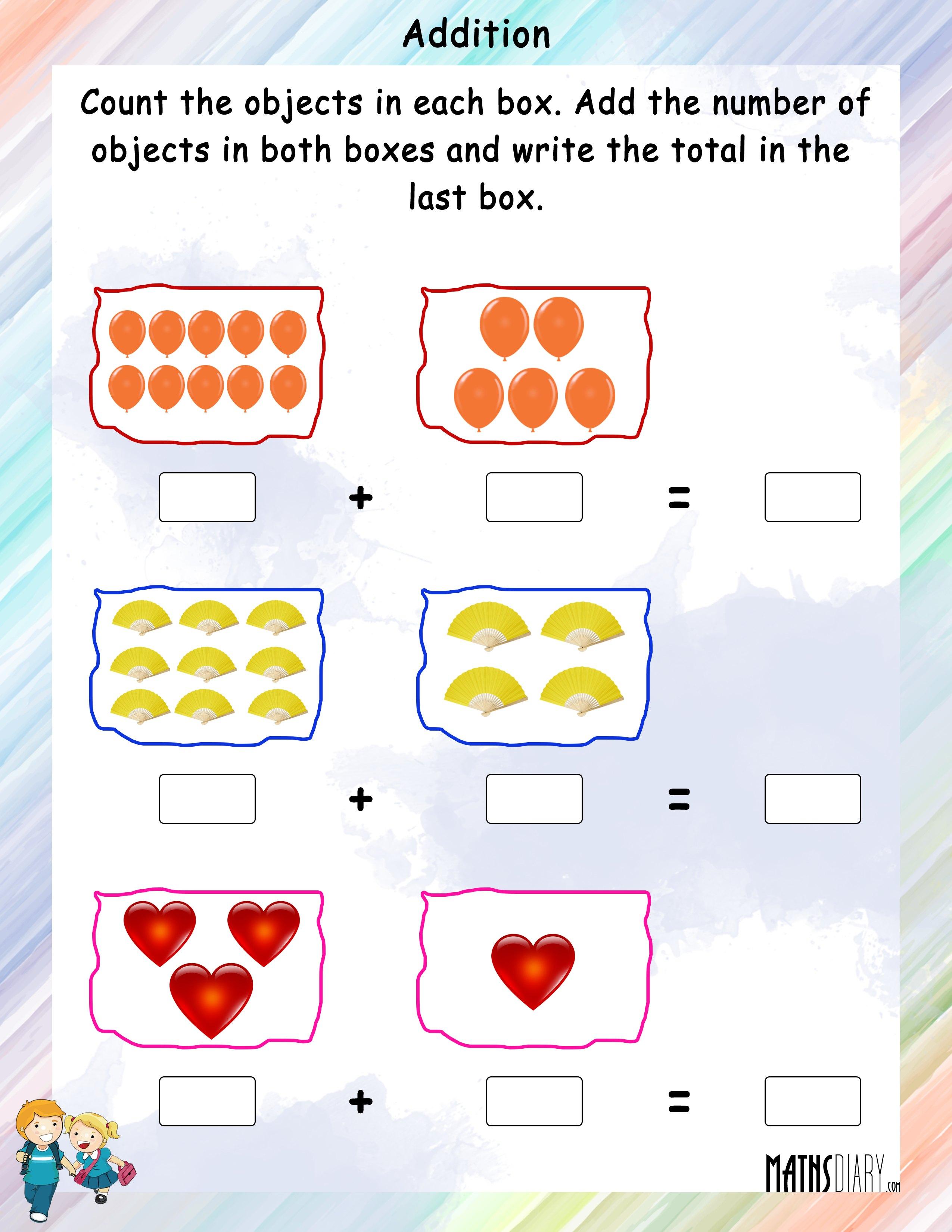 Worksheet For Nursery In Math