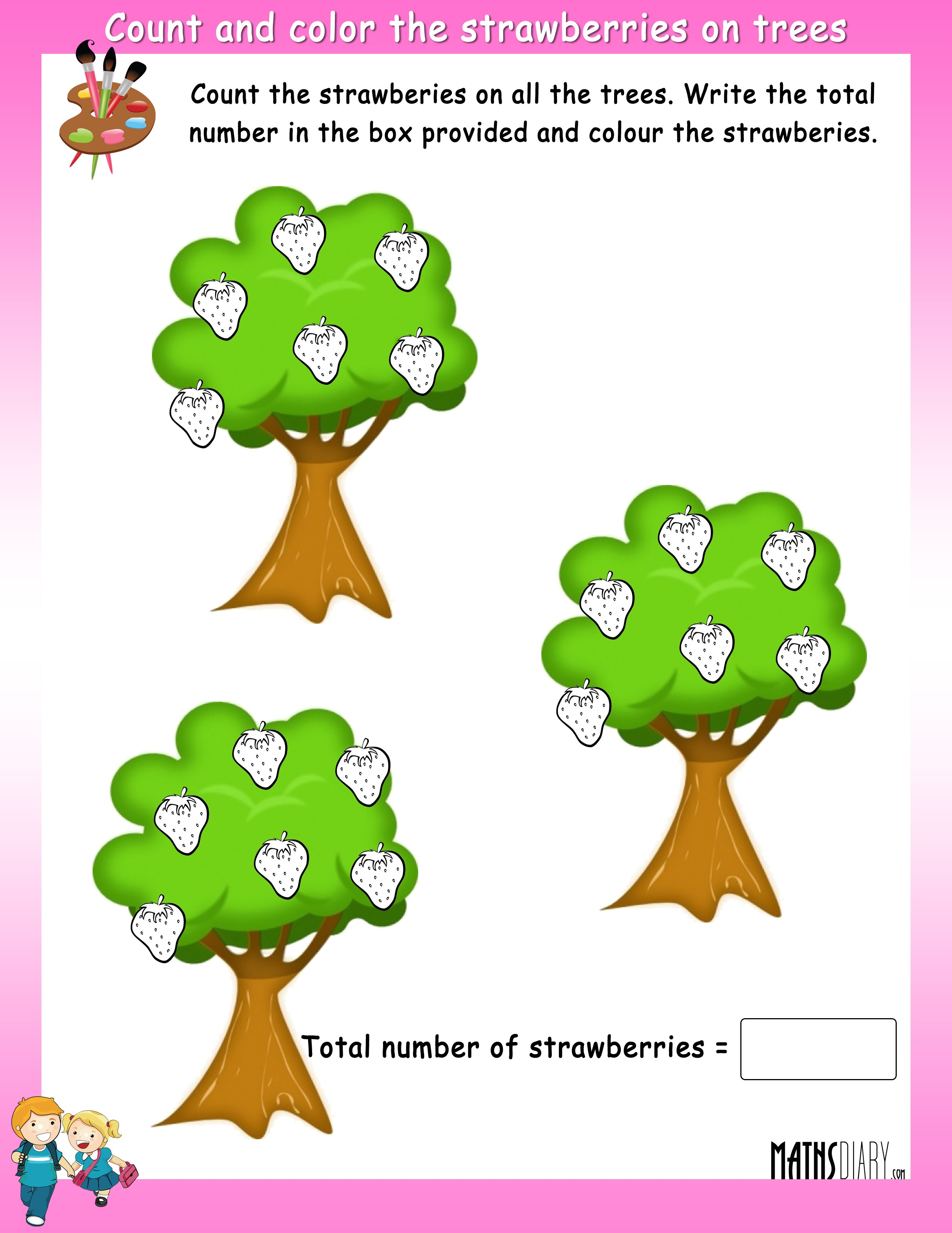 Counting Trees Worksheet