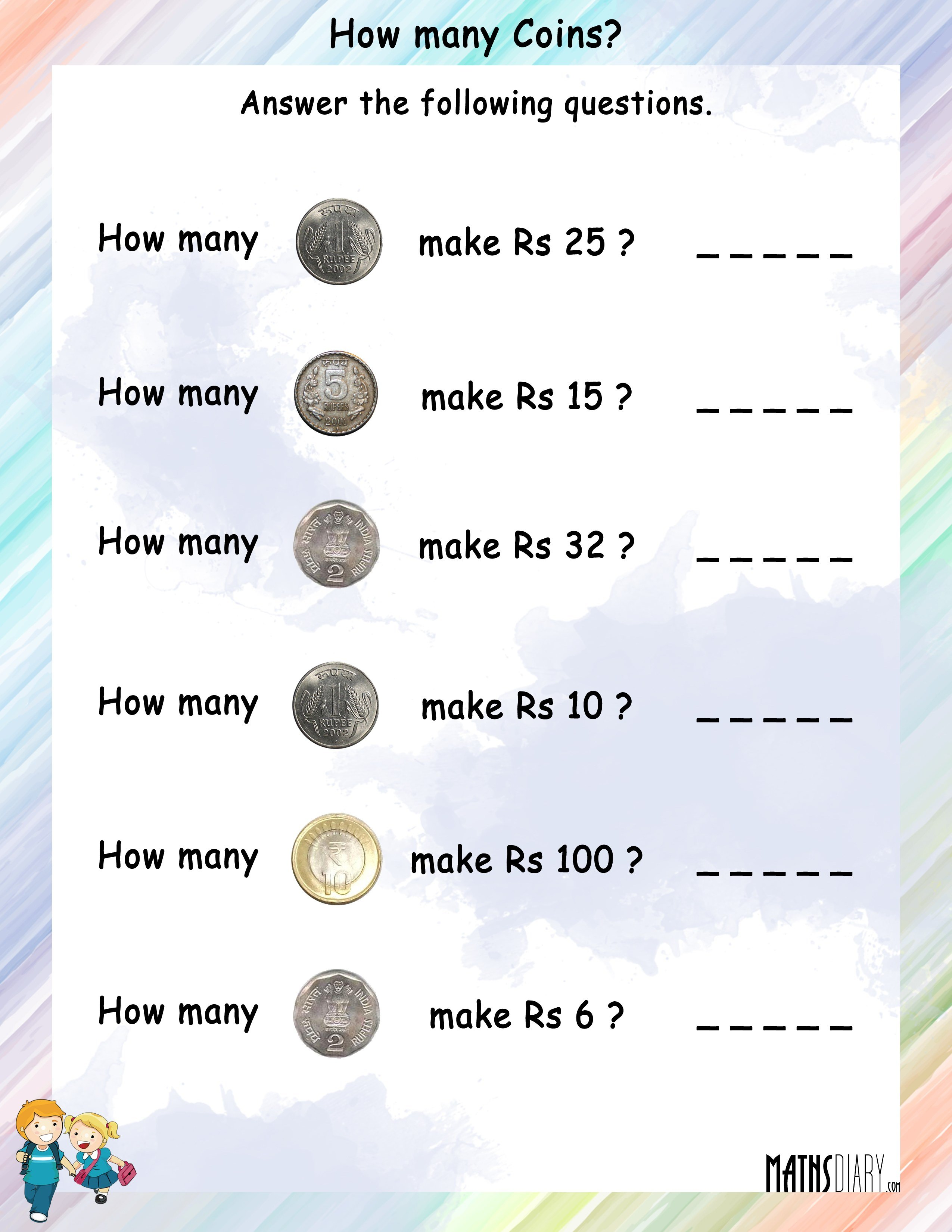 Money Grade 1 Math Worksheets