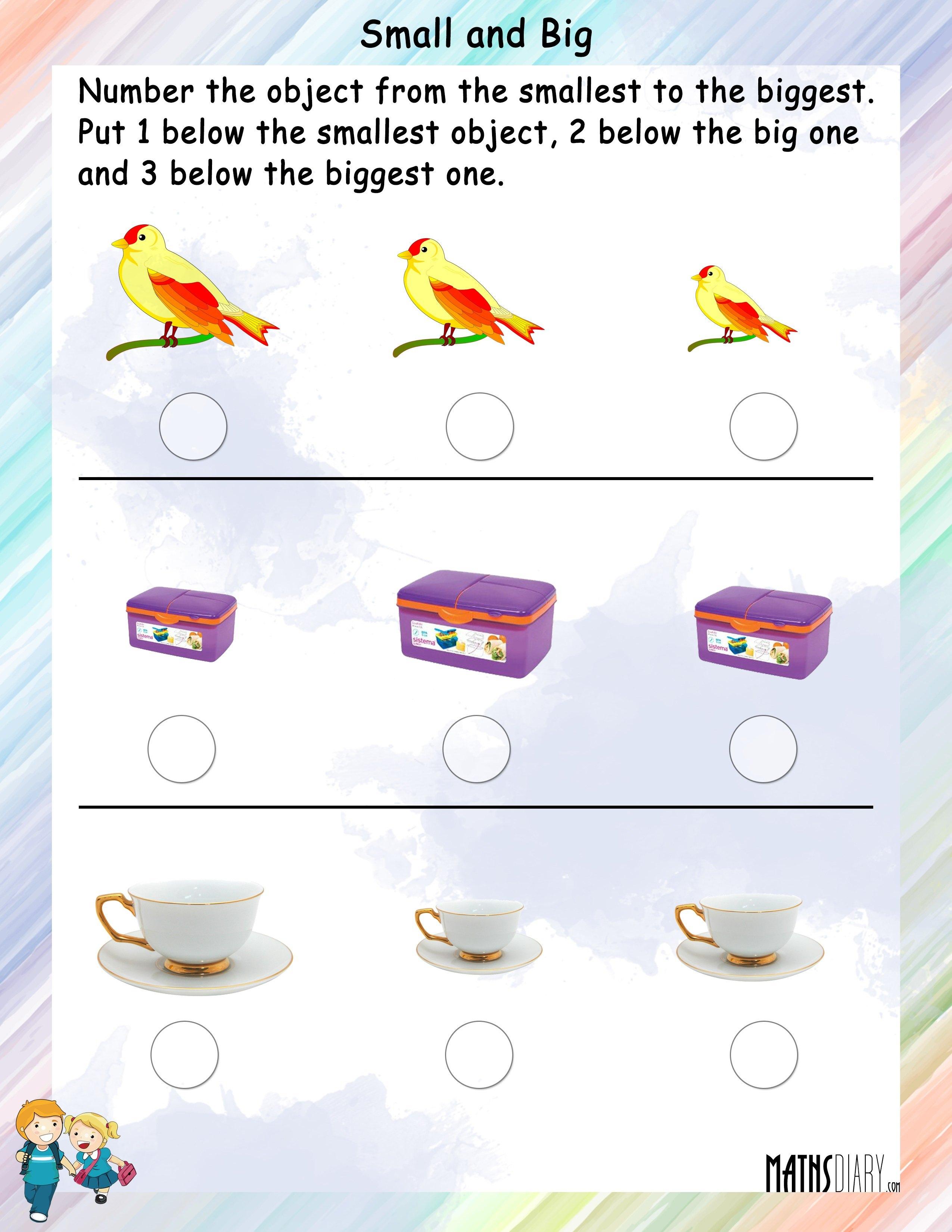 Measurement Grade 1 Math Worksheets