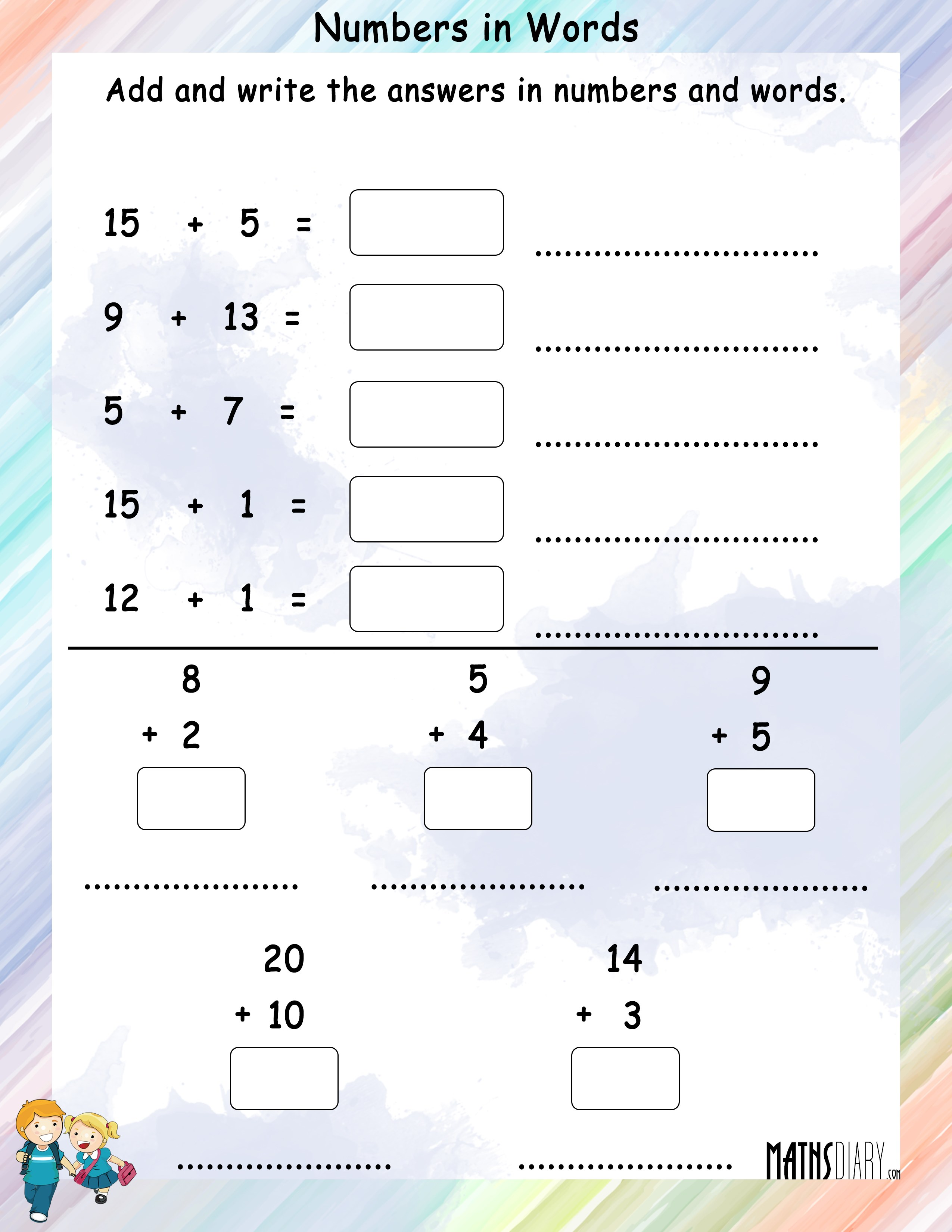 Words Worksheet Grade One