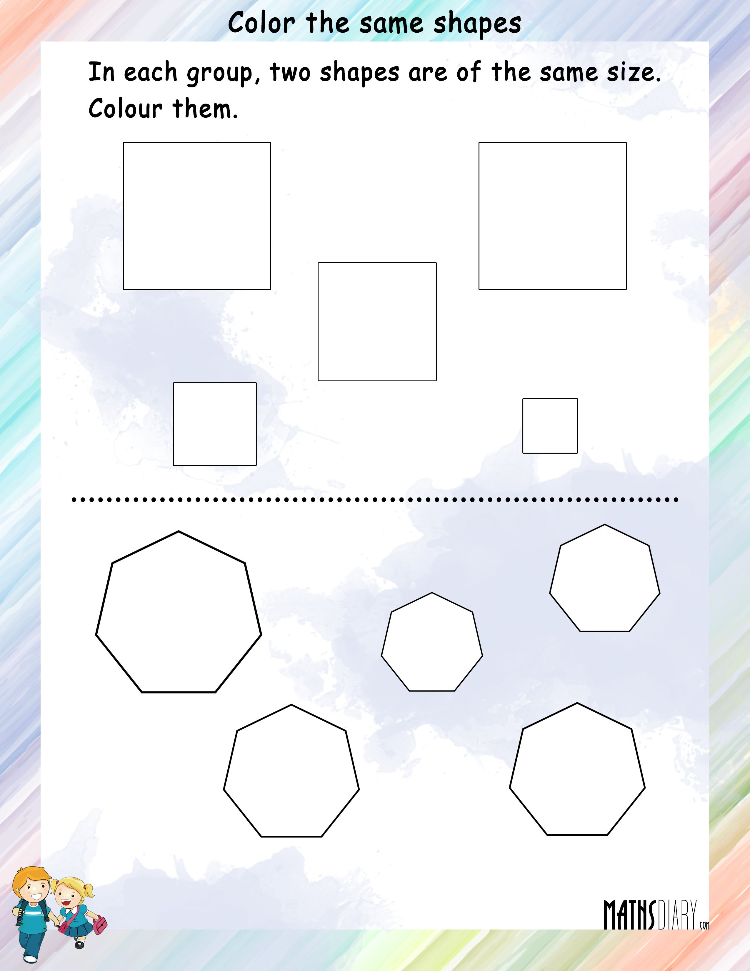 Shapes Grade 1 Math Worksheets