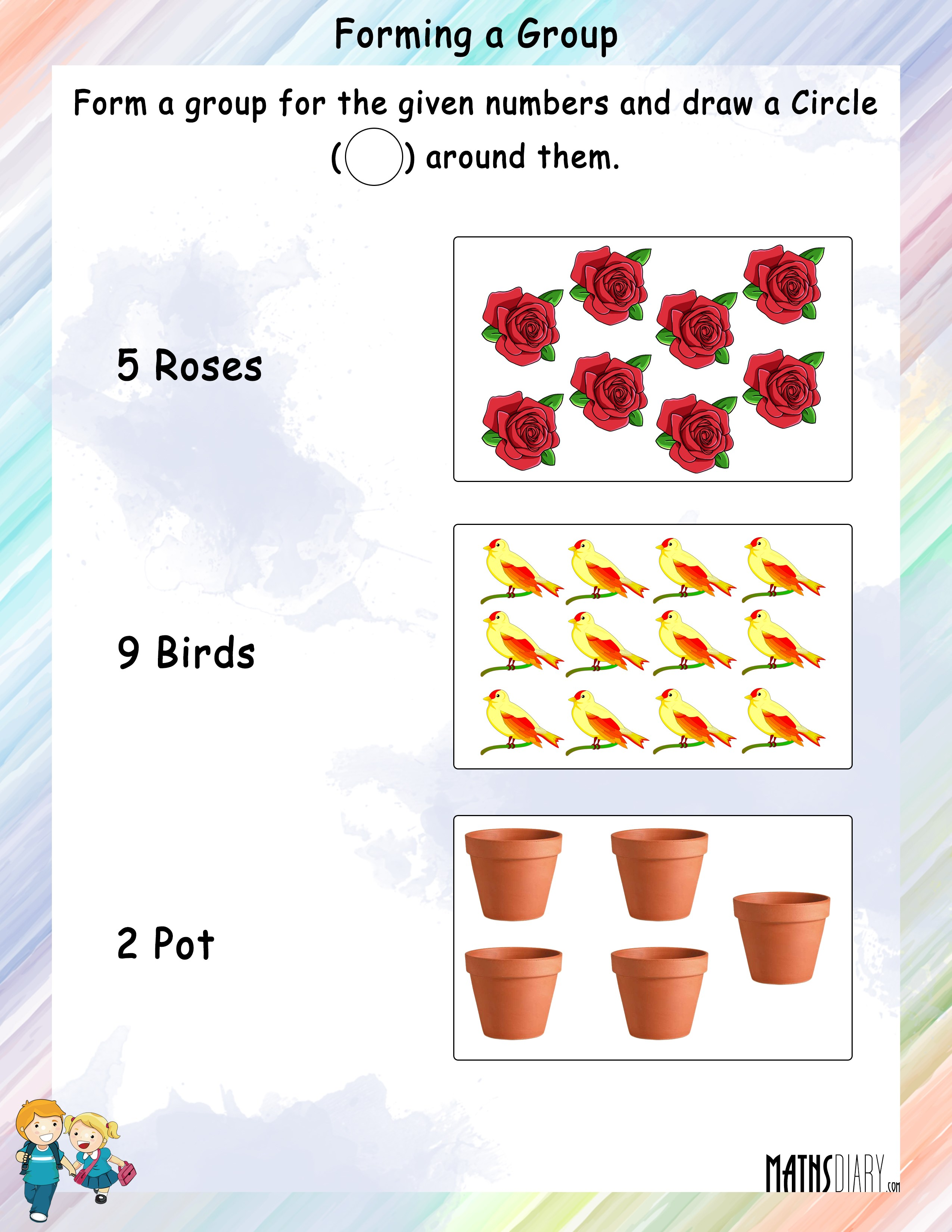 Forming A Group For Given Numbers Worksheets