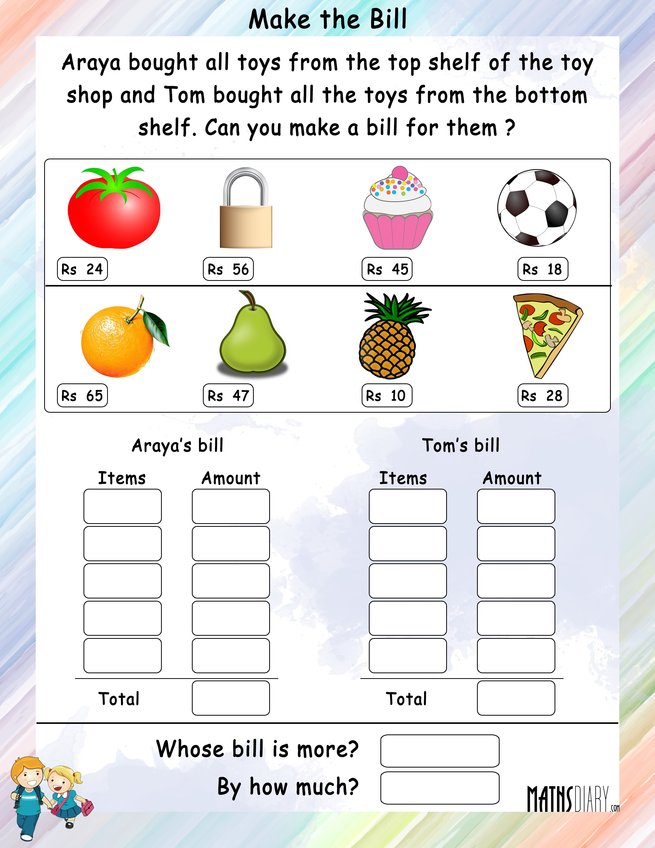 Changing A Statement To Addition Sum Worksheets Mathsdiary
