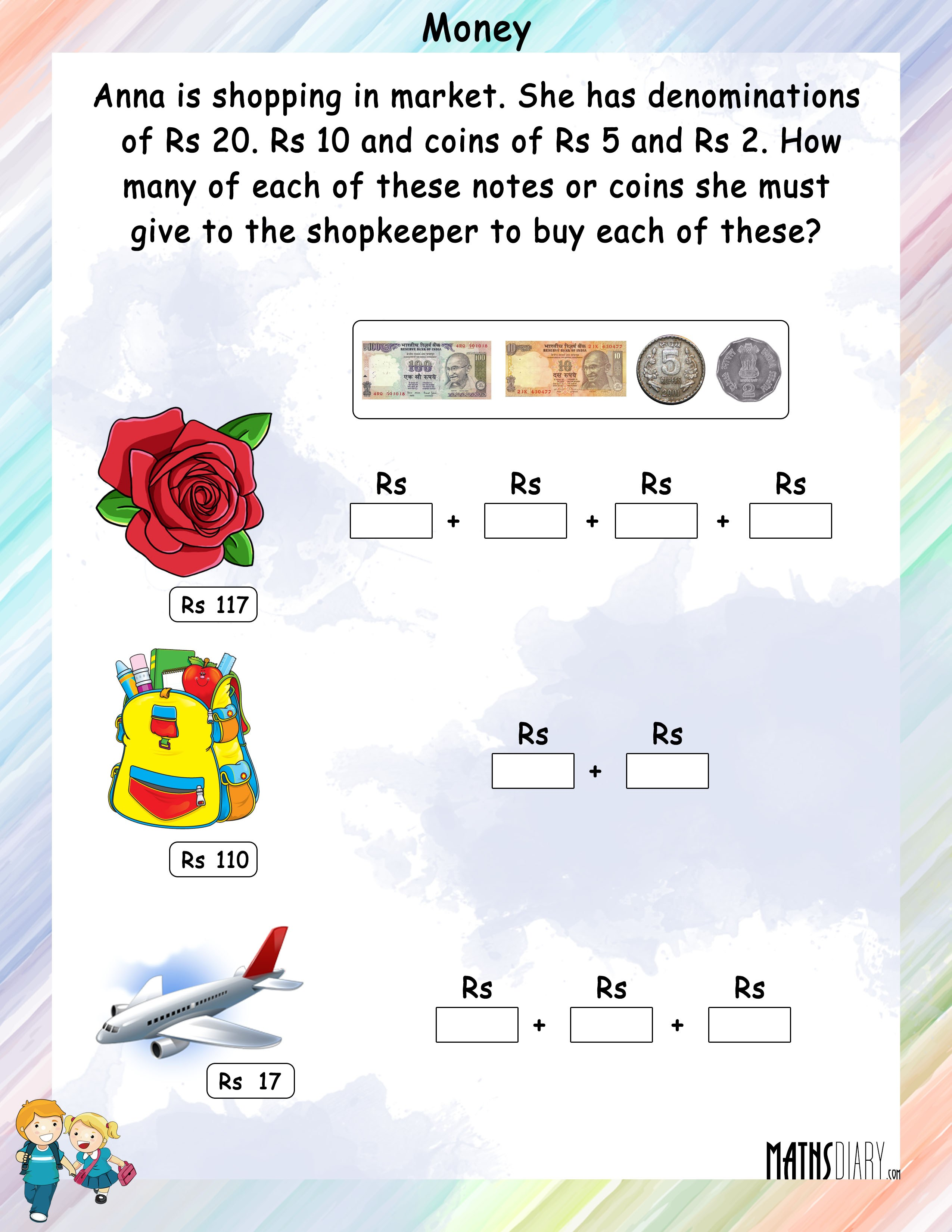 Dealing With Change Money Worksheet