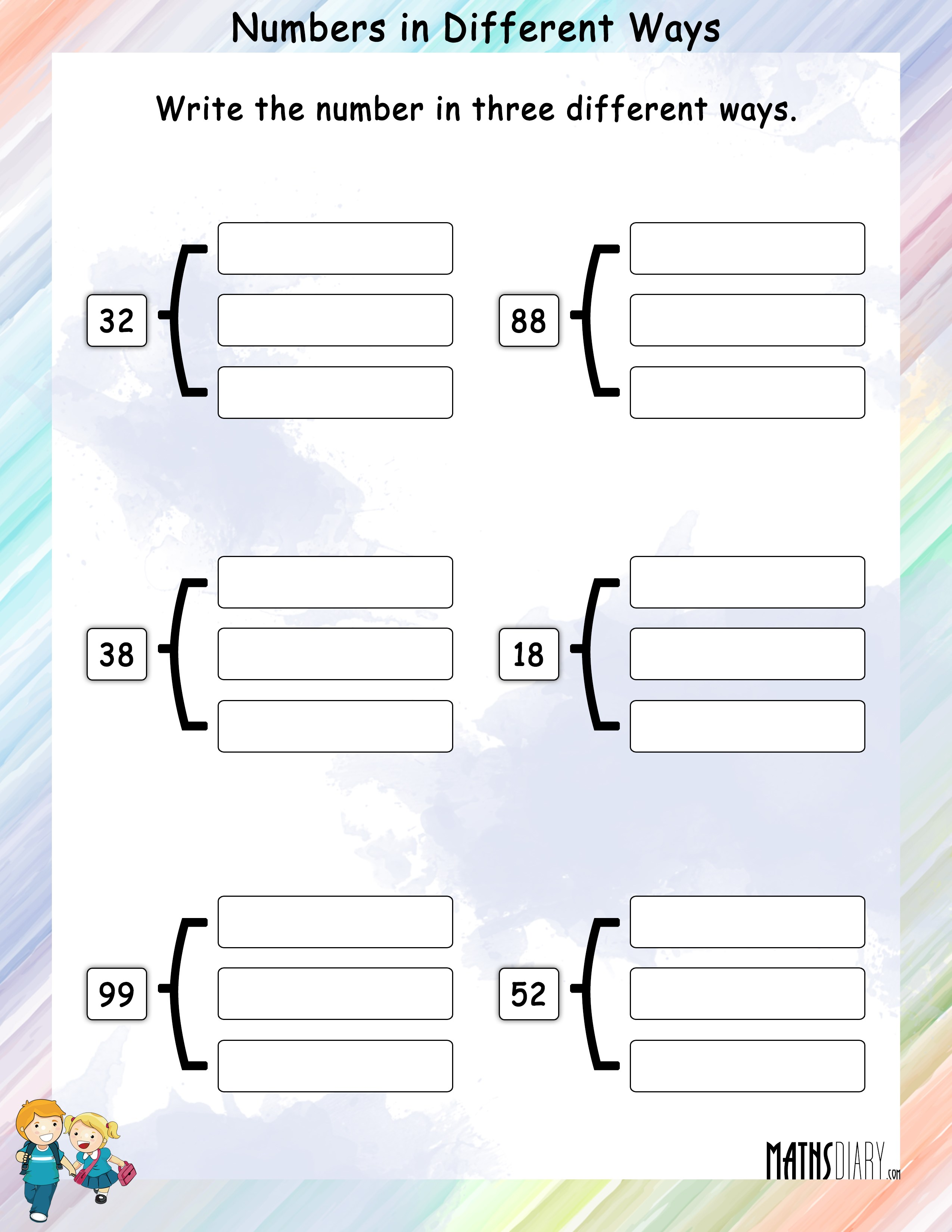 Write Numbers In Different Ways