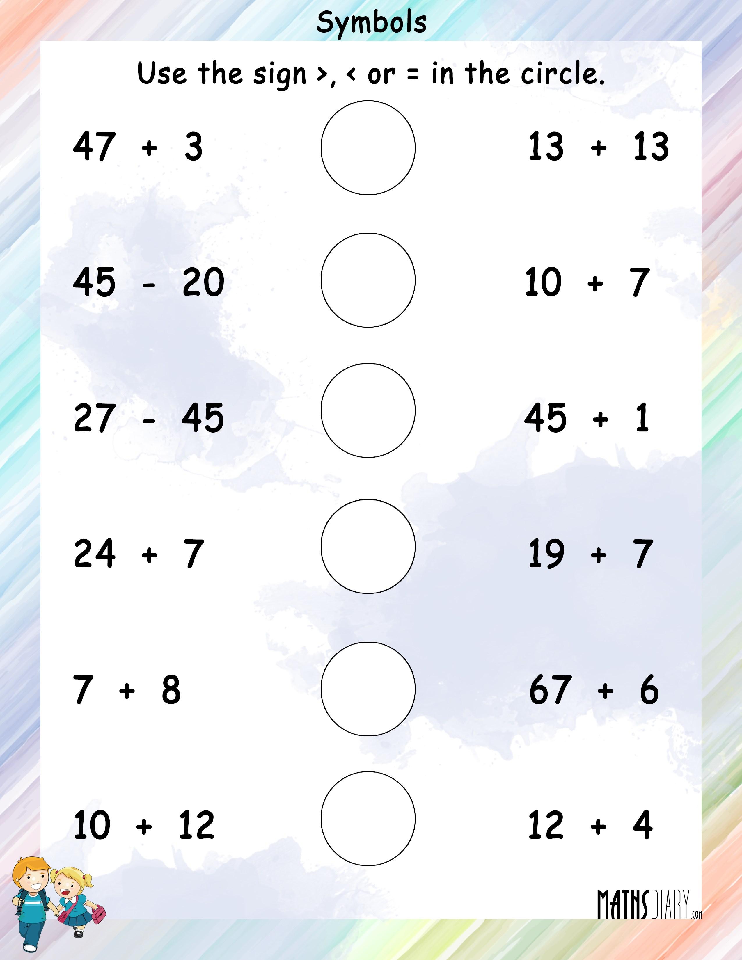 Using Of Symbols Comparing