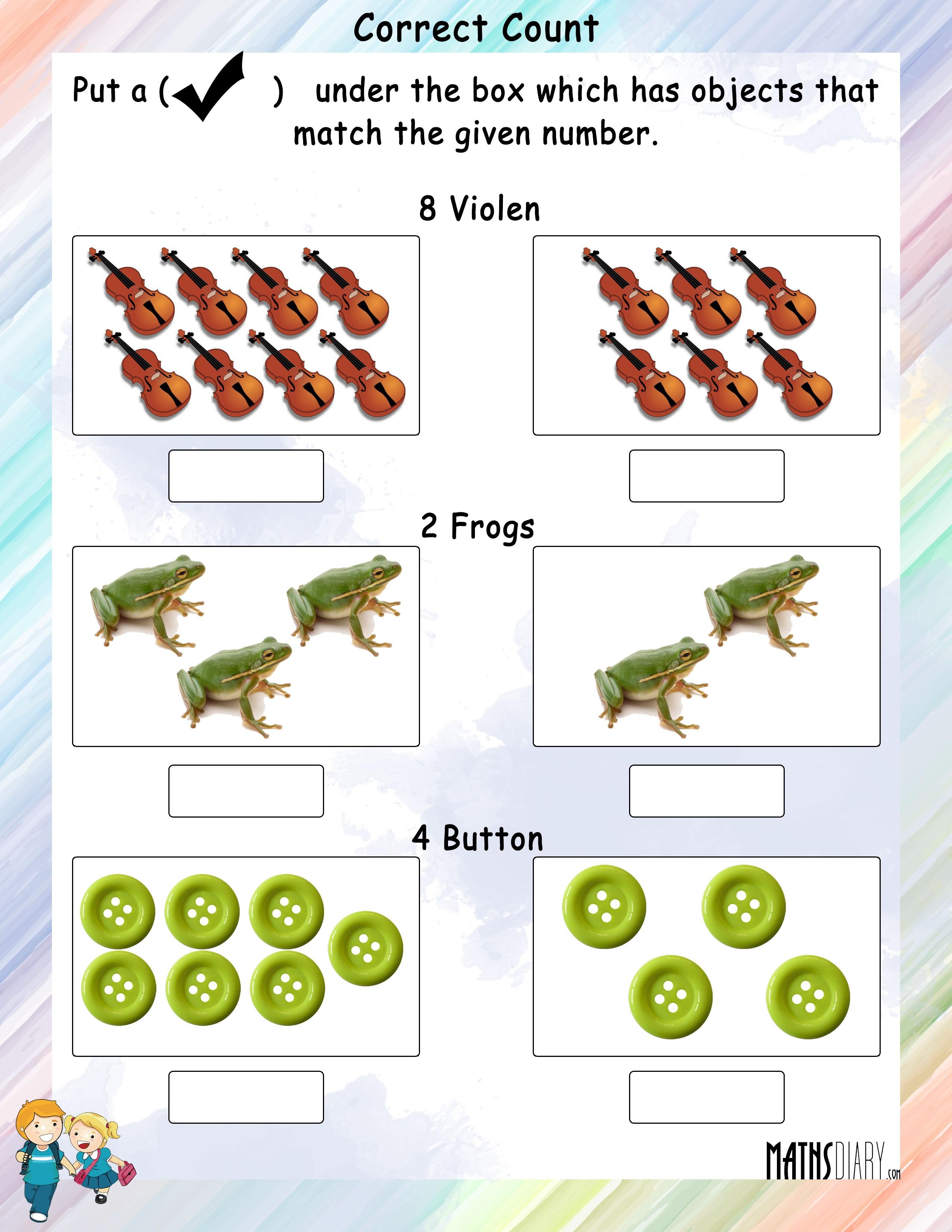 Practical Maths Grade 1 Math Worksheets