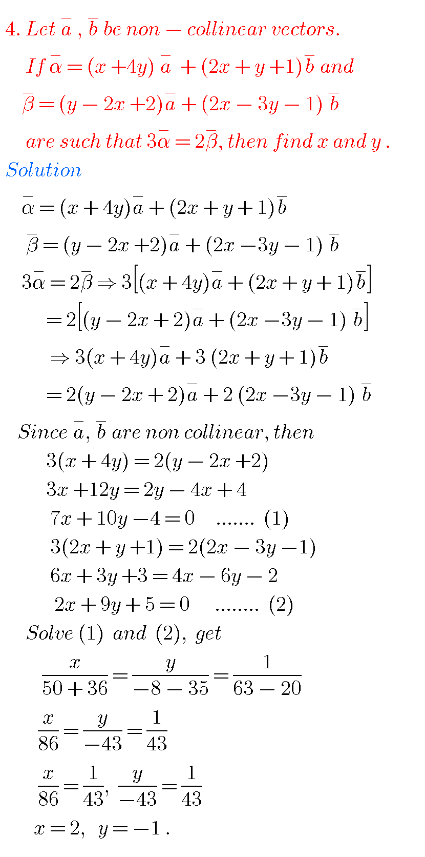 Addition of vectors,intermediate first year mathematics 1A
