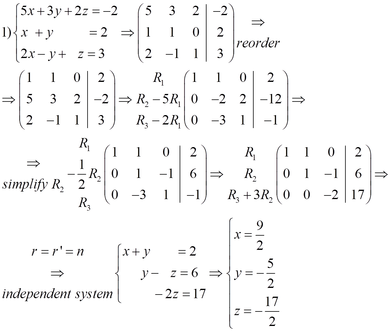 How To Solve System Of Equations Using Gaussian
