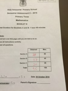 JJ failed her SA1. In one Semester, she improved by almost 50 marks.