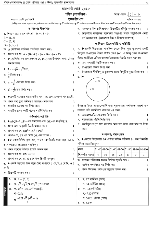 RB SSC Math Question 2015