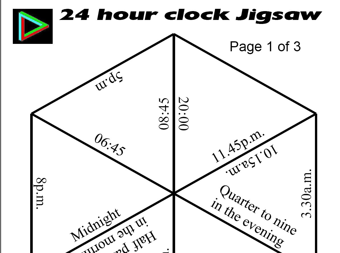 24 Hour Clock Jigsaw