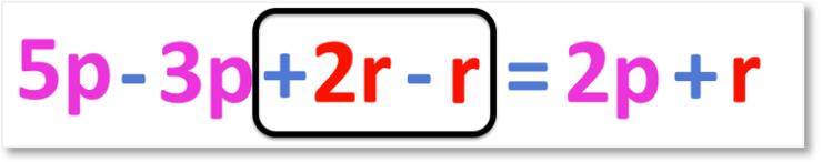 5p + 2r - 3p - r = 2p + r