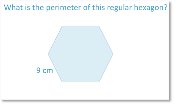 Perimeter of a regular hexagon