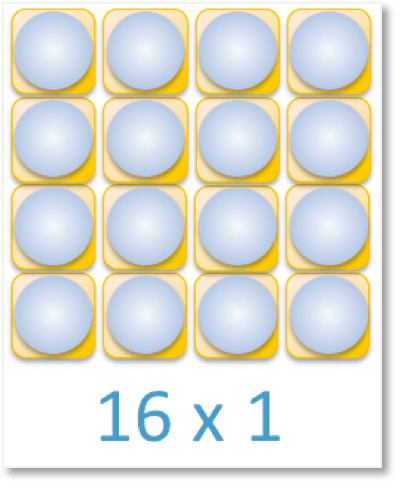 an array of 16 counters arranged as 16 x 1