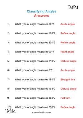 identifying angles worksheet answers pdf