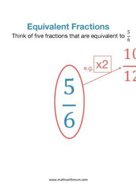 finding equivalent fractions worksheet pdf