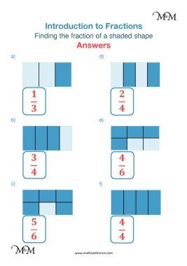 identifying fractions worksheet answers pdf