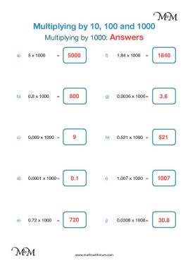 multiplying by 1000 worksheet answers pdf