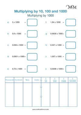 multiplying by 1000 worksheet pdf