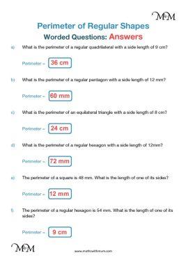 perimeter word problems worksheet answers pdf