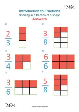 shading fractions worksheet answers pdf