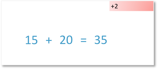 addition by compensation 15+18 by adding 20 and subtracting 2