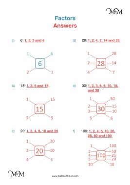 finding factors worksheet answers pdf