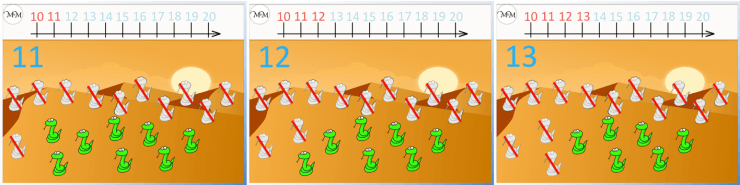 counting to twenty with a number line