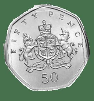 united kingdom 50 pence coin