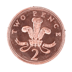 uk money two pence coin