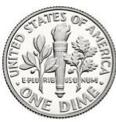 an american dime coin