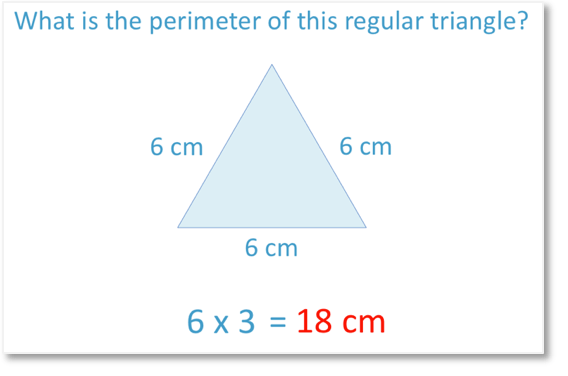 finding the perimeter of a regular triangle