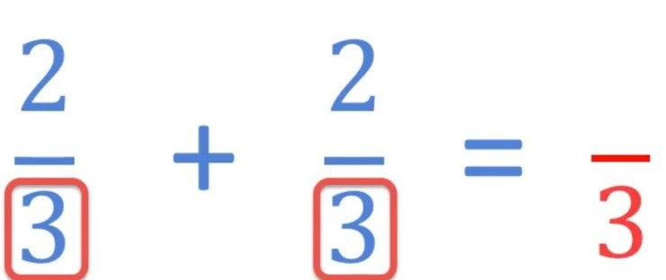 adding improper fractions with the same denominator example