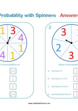 probability with dice worksheet answers pdf