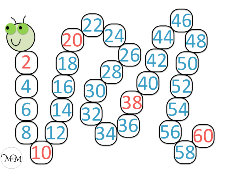 skip counting caterpillar worksheet answers